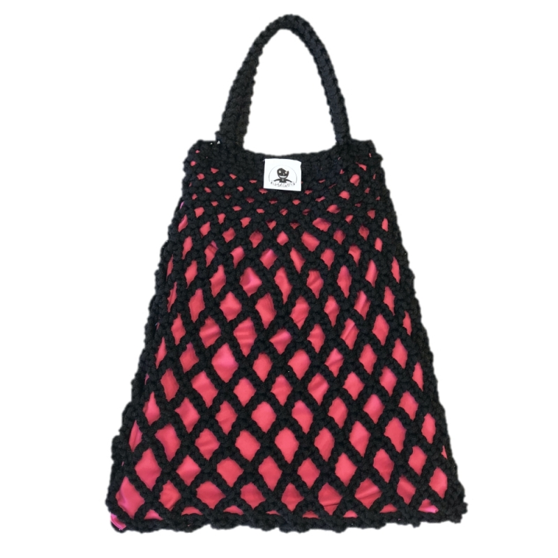 TORBA GAŁGAN PLUS BLACK + HOT PINK