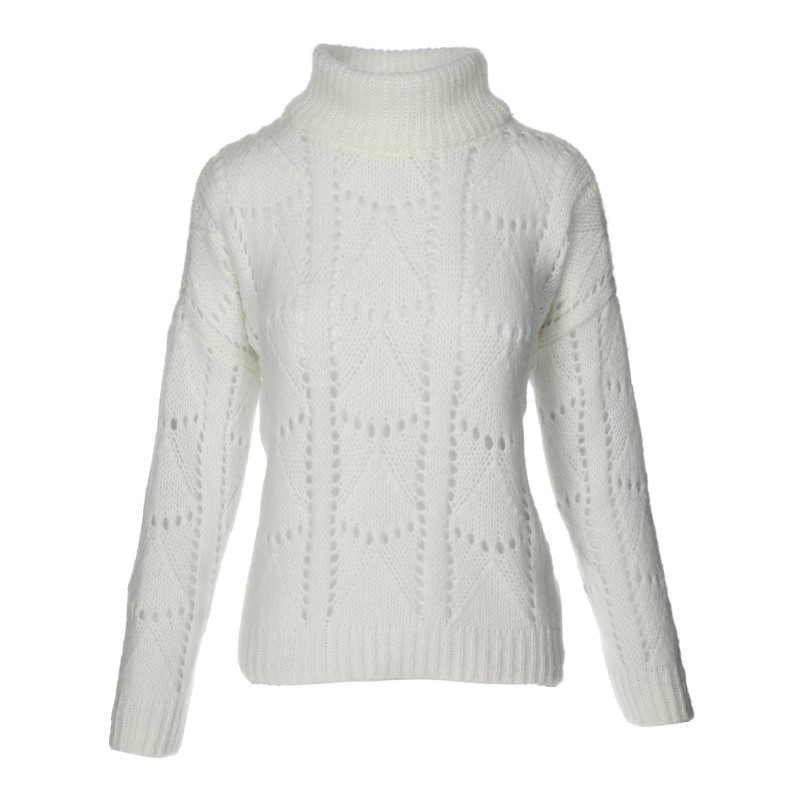 Sweter Ażur Biały
