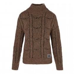 Sweter Ażur Brązowy