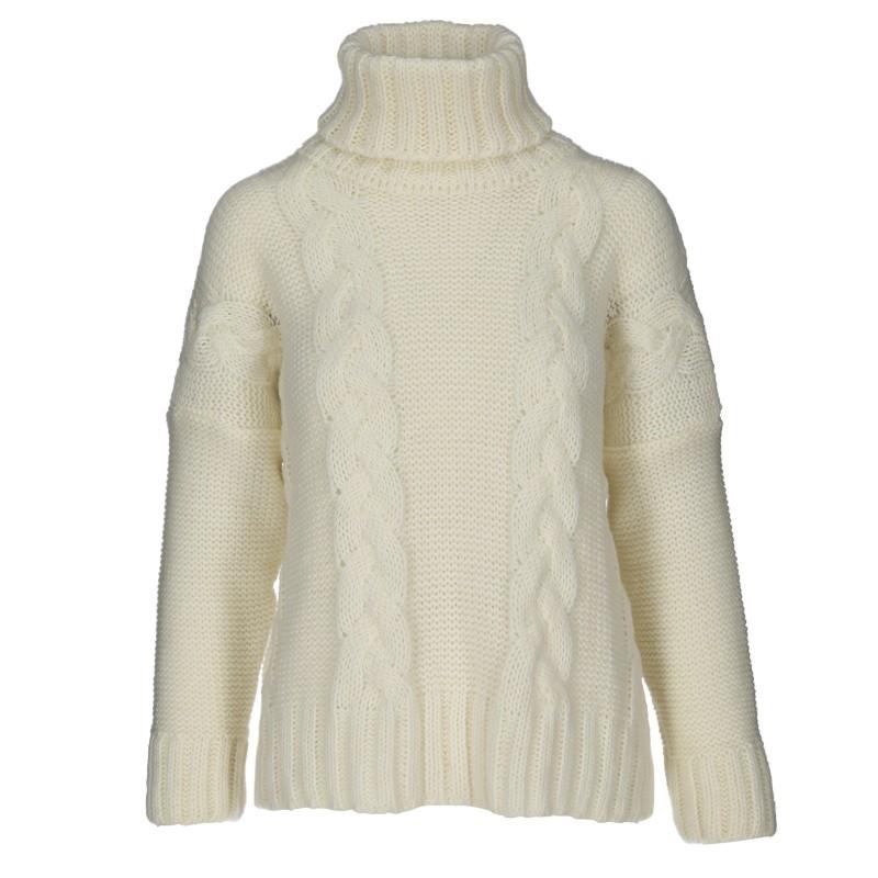 Sweter zimowy warkocz