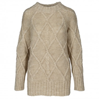 Długi Sweter zimowy beż